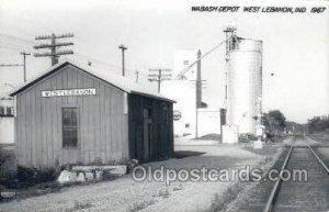 Wabash Depot, West Lebanon, IN, USA Kodak Real Photo Paper Train Railroad Sta...
