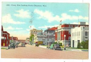 Carey Avenue, Looking South, Hotel, Cafe, Cheyenne, Wyoming, PU-1946