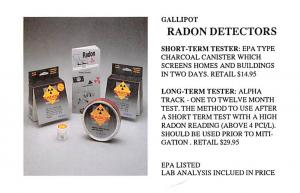 Hardware Advertising Old Vintage Antique Post Card Gallipot Radon Detectors U...