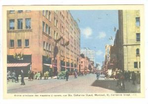 St. Catherine Street, Montreal, Quebec, Canada, 1930-1940s