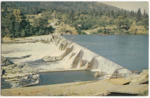 Savage Rapids, Dam, on Pacific Highway, U.S. 99, Oregon, unused Postcard