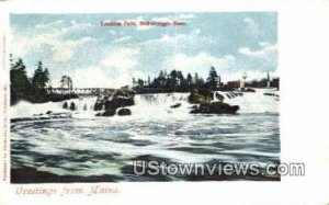 Lewiston Falls in Androscoggin River, Maine