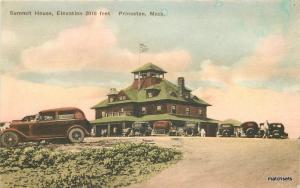 1938 Princeton Massachusetts Summit House hand colored Albertype postcard 7348