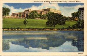 Kansas Lawrence Administration Building University Of Kansas Curteich