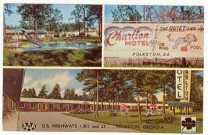 Charlton Motel , Folkston, Georgia, 40-60s