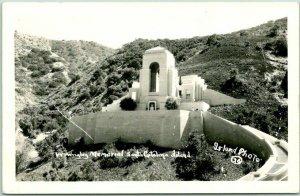 1940s Catalina Isl., California RPPC Postcard Wm Wrigley Memorial ISLAND PHOTO