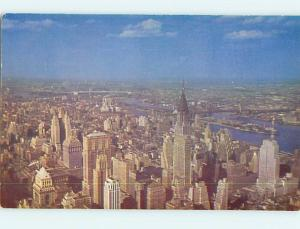Unused 1950's NORTH EAST VIEW FROM EMPIRE STATE BUILDING Manhattan NY r9331