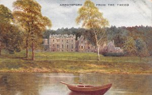Abbotsford from the Tweed, Scotland, Early Postcard, Unused