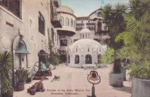 Garden Of The Bells Mission Inn Riverside Cailfornia Handcolored Albertype 1947