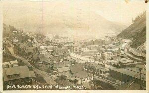 Wallace Idaho Birdseye View #15 Andrews 1922 RPPC Photo Postcard 21-7201