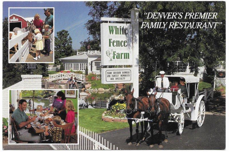 US Colorado. White Fence Farm, Lakewood.  Mint Card. Beautiful Colorado.