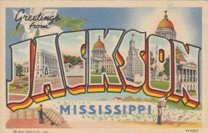 Large Letter JACKSON , Mississippi, 1941