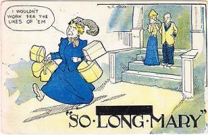 So Long Mary Comic Postcard