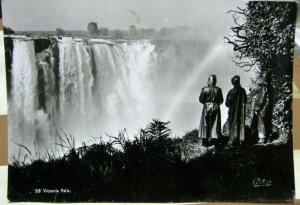 Zimbabwe Victoria Falls RPPC - unposted