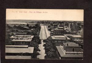 Egypt Port Said Rue du Village Arabe Egypte Carte Postale Postcard Egyptian PC