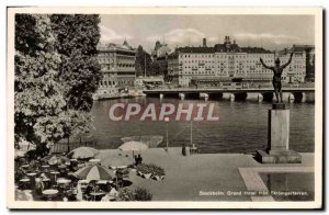 Postcard Old Stockholm Grand Hotel Fran Stromparterren