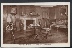 Northamptonshire Postcard - Sulgrave Manor - The Parlour (North Wing)    T1932
