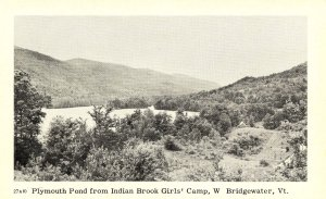VT - West Bridgewater. Plymouth Pond from Indian Brook Girls Camp
