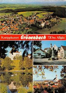 Kneippkurort Groenenbach Allgaeu Gesamtansicht Schloss Castle Lake Birds