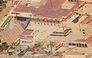 Downey California First Baptist Church Aerial View Vintage Postcard K45755
