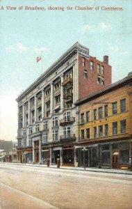 Broadway Street Scene LOS ANGELES, CA Chamber of Commerce 1912 Vintage Postcard
