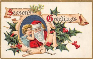 Christmas Santa Claus Writing on back