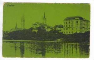 Č áslav, Czech Republic,PU 1911 (When Austria) Waterfront view