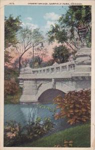 Illinois Chicago Cement Bridge Garfield Park 1916