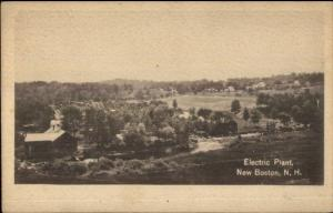 New Boston NH Electric Plant c1910 Postcard