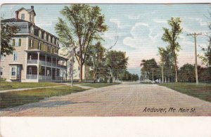 Maine Andover Main Street Residential Scene 1908 sk0638a