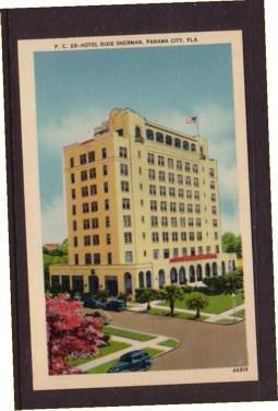 Florida colour PC Hotel Dixie Sherman, Panama City, unused