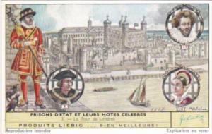 Liebig S1735 State Prisons and Famous Guests No 3 La Tour Londres