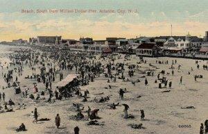 ATLANTIC CITY, New Jersey, 1900-10s; Beach, South from Million Dollar Pier