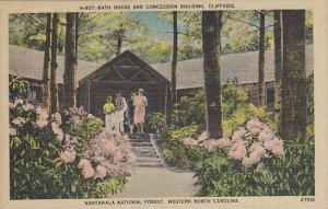 Western North Carolina Nantahala National Forest Bath House And Concession Bu...
