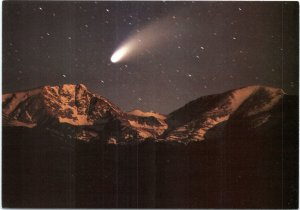 postcard Comet Hale-Bopp from Moraine Park in Rocky Mountain National Park