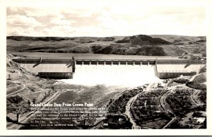 Washington Grand Coulee Dam From Crown Point Real Photo