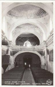 RP: TUCSON , Arizona , 1940s ; Mission San Xavier, Nave & choir ; FRASHERS