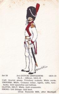 Dutch Grenadiers Office Uniform Holland Army Soldier Napoleonic War Postcard