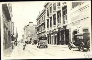 mexico, TAMPICO, Unknown Street, Oldsmobiles 1920s RPPC