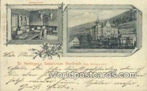 Dr Hettinger's Sanatorium Nordrach Swizerland 1903