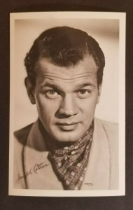 Mint Movie Star Joseph Cotten Real Picture Photograph Postcard