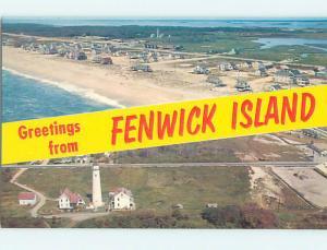 Pre1980 GREETINGS FROM - TWO VIEWS ON ONE POSTCARD Fenwick Island DE r9854