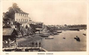 Kenya Mombasa Harbour Boats Bateaux real photo