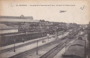 BOURGES.- La Gare , Trains at Railroad Station , France , 00-10s