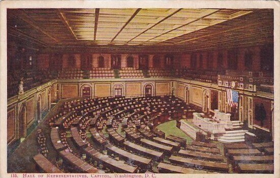 Hall Of Representatives Capitol Washington D C