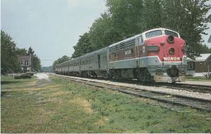 Monon Railroad Indiana Transportation Museum Postcard Train No. 83-A