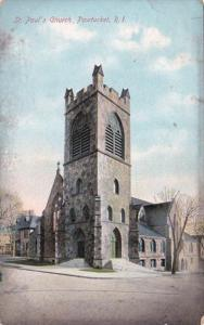 Rhode Island Pawtucket St Paul's Church 1909