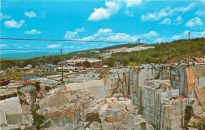 Barre Vermont~Rock of Ages Granite Quarry~Broad Panorama~Pond~Buildings~1960s PC