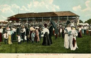 NY - Cortland. Cortland County Fair, At The Races, Early 1900's