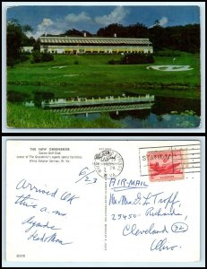 WEST VIRGINIA Postcard-White Sulphur Springs,New greenbrier,Casino Golf Club F33